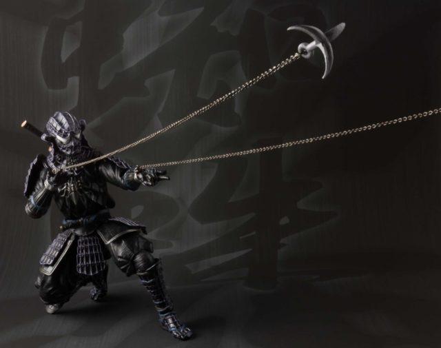 Bandai Black Ninja Spider-Man with Grappling Hooks Web Shooters