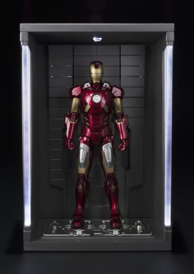 Bandai Iron Man Mark VII Figure with Hall of Armor