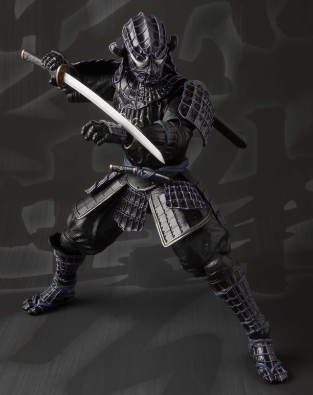 Black Onmitsu Spider-Man Bandai Action Figure Wielding Sword