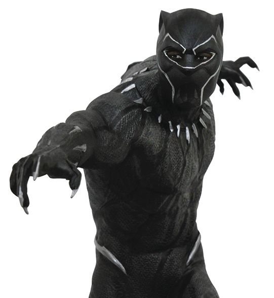 Close-Up of Diamond Select Black Panther Statue