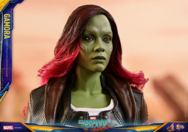 Close-Up of Hot Toys Gamora Head Infinity War Portrait