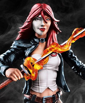 Close-Up of Marvel Legends Typhoid Mary Figure