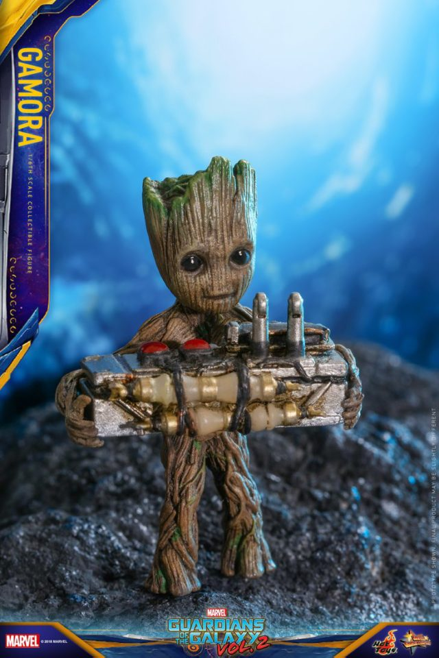 Hot Toys Baby Groot Figure with Button from Gamora