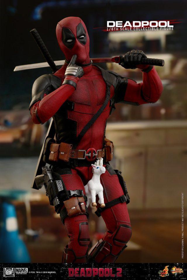 Hot Toys Deadpool 2 Figure Riding Unicorn Plush