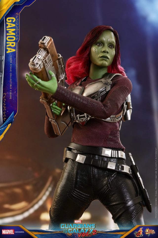 Hot Toys GOTG Vol 2 Gamora Figure with Aerorig Jetpack