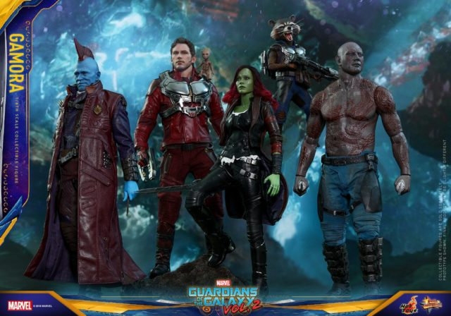 Hot Toys Guardians of the Galaxy Vol 2 Figures Full Team