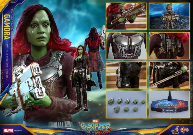 Hot Toys Infinity War Gamora Figure and Accessories