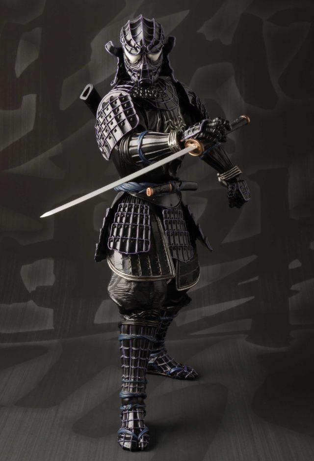 Sword-Wielding Black Costume Samurai Spider-Man Action Figure