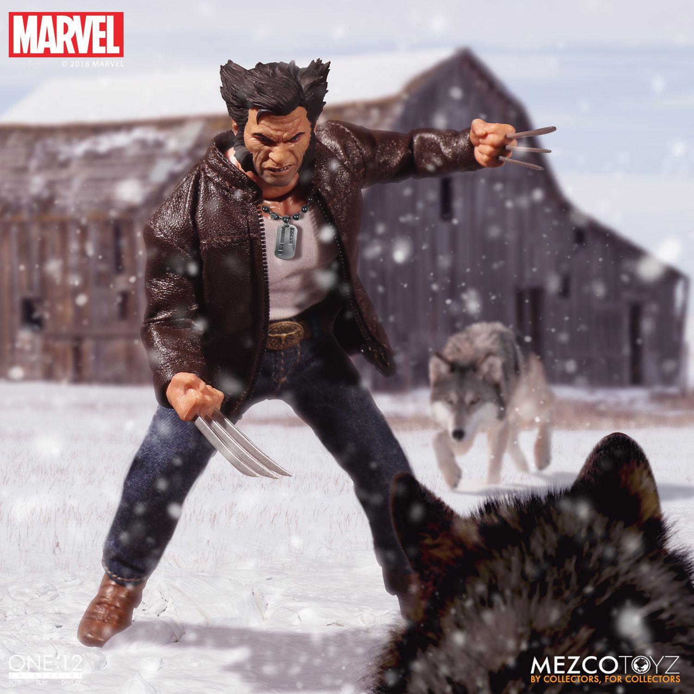 Mezco One:12 Logan Wolverine Cowboy Hat Head Sculpt Only