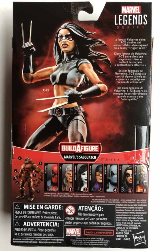 X-23 Marvel Legends Box Back