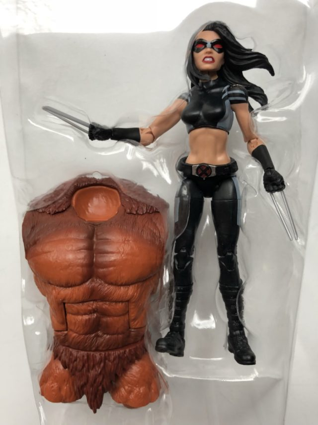 X-Force X-23 Marvel Legends Figure with Sasquatch Build-A-Figure Torso