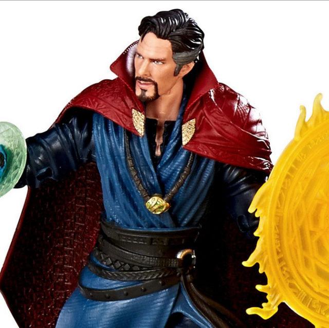 Close-Up of Marvel Legends Doctor Strange Figure New Head 3-Pack