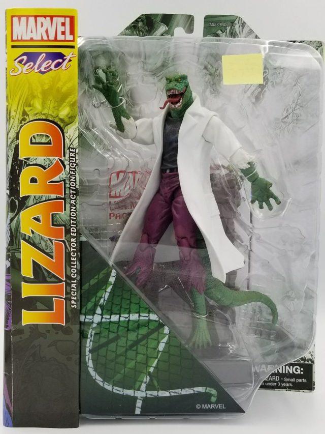 Diamond Select Toys Marvel Select Lizard Figure Packaged