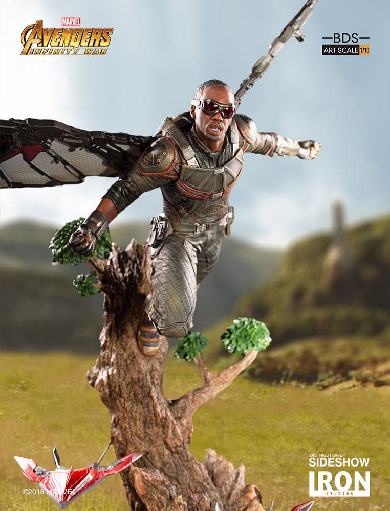 Iron studios infinity war thor falcon war machine cap - Faucon avengers ...