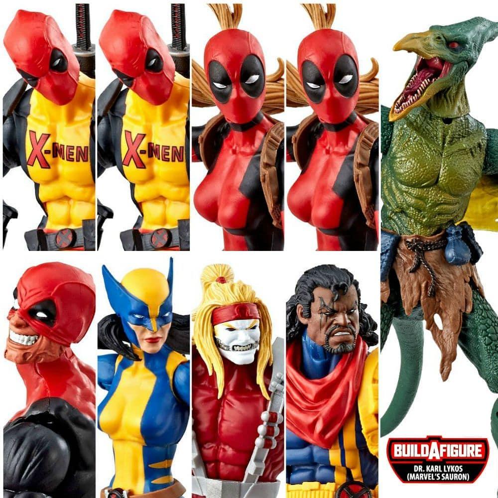 Deadpool in X-Men Uniform Marvel Legends 2018 Deadpool Serie Actionfigur