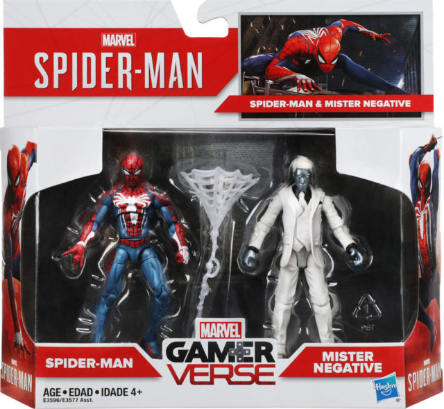 Marvel Legends Gamerverse Spider-Man vs. Mister Negative 2-Pack Packaged