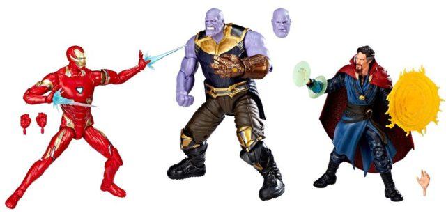 Marvel Legends Infinity War Thanos Iron Man Doctor Strange 3-Pack