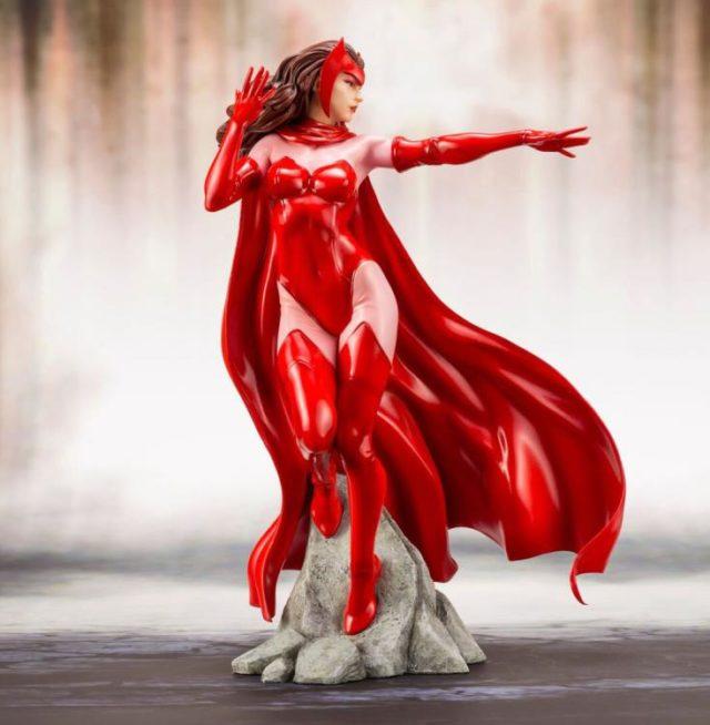 Side View Kotobukiya Avengers ARTFX+ Scarlet Witch Statue