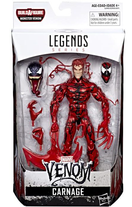 Venom Legends Carnage Figure Packaged