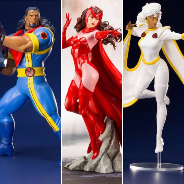 Kotobukiya Marvel ARTFX+ Scarlet Witch Bishop Storm Statues
