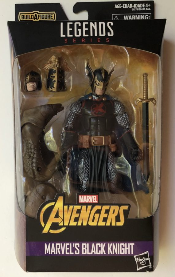 Avengers Legends Black Knight Figure Packaged