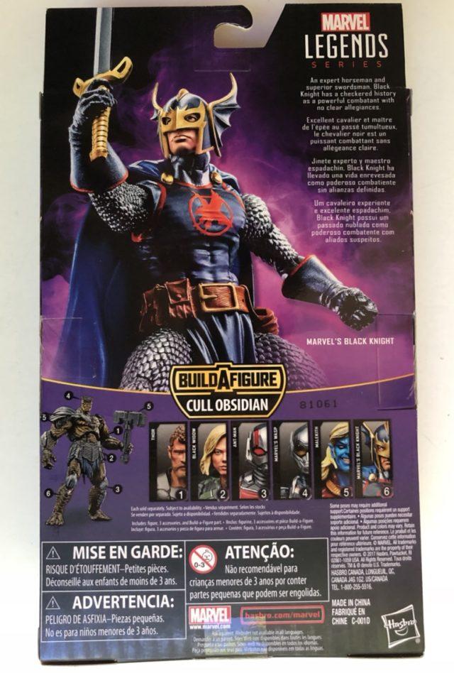 Box Back Marvel Legends Black Knight Action Figure