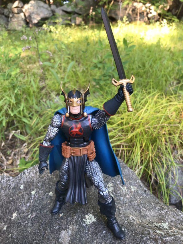 "Marvel Legends Black Knight 6"" Figure Holding Ebony Blade Aloft"