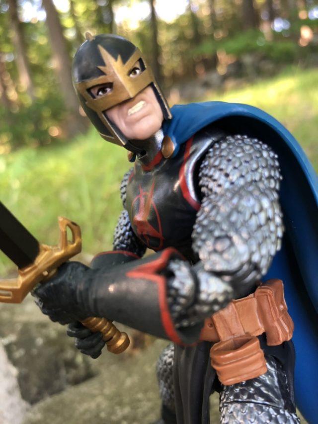 Normal Head on Marvel Legends Cull Obsidian Series Black Knight Figure