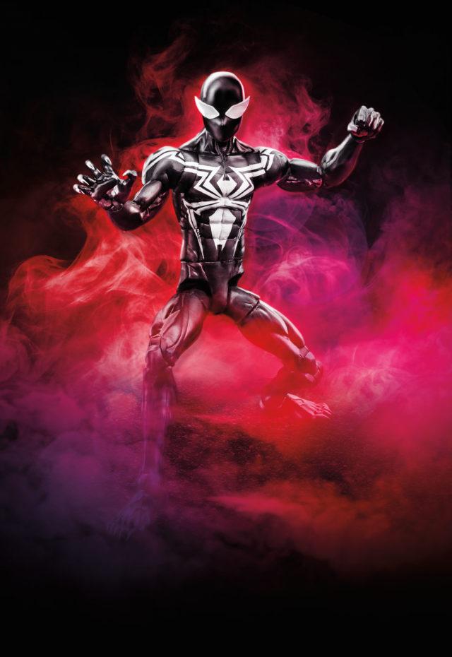 2019 Marvel Legends Spider-Man Symbiote Spider-Man Figure Go Down Swinging