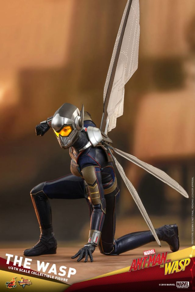 Articulation on Wasp Hot Toys 12 Inch Figure