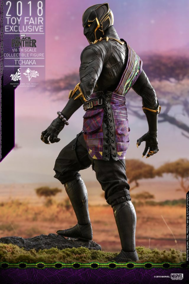 Back of Toy Fairs Exclusive Hot Toys T'Chaka Black Panther 12 Inch Figure