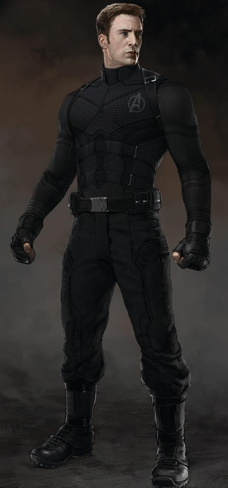 Captain America Civil War Concept Art Black Costume Cap