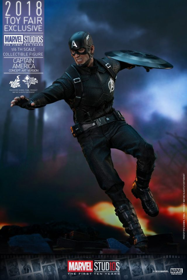Hot Toys Black Costume Captain America Sixth Scale Figure Exclusive