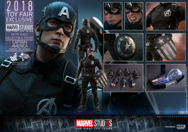 Hot Toys Concept Captain America Figure and Accessories