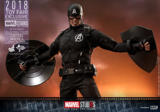 Hot Toys Exclusive Captain America Concept Art Black Costume Figure