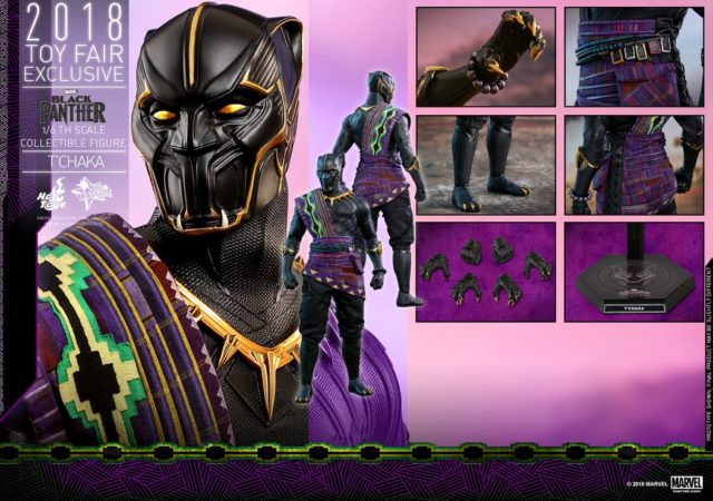 Hot Toys T'Chaka Black Panther Figure and Accessories