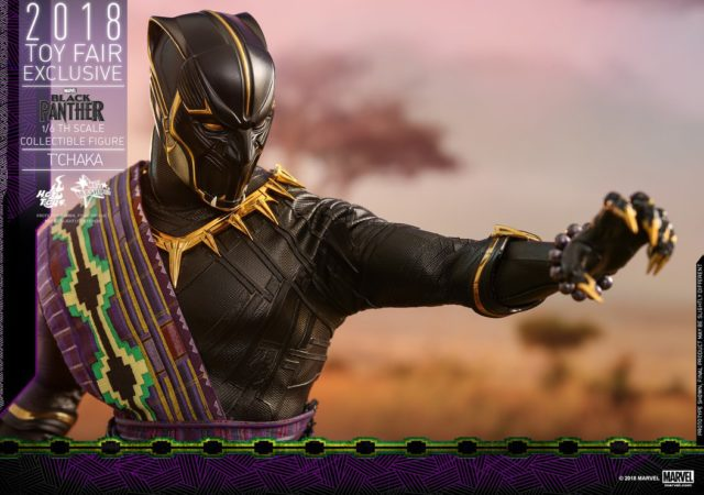 Hot Toys TChaka Black Panther Toy Fairs Exclusive