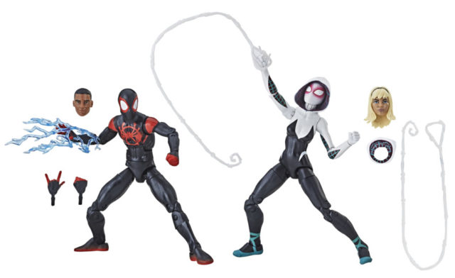 Marvel Legends Into the Spider-Verse Spider-Gwen and Miles Morales Figures