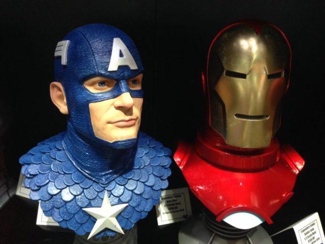 SDCC 2018 Diamond Select Legendary Busts Captain America Iron ManSDCC 2018 Diamond Select Legendary Busts Captain America Iron Man