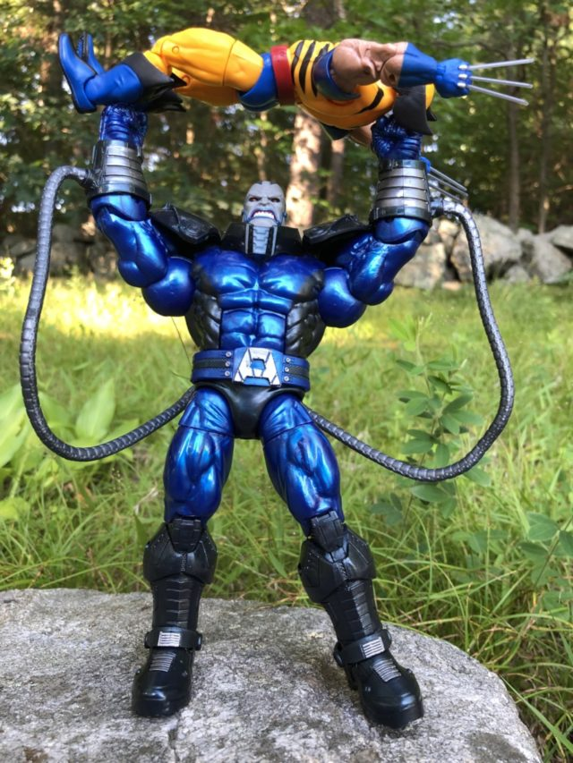 X-Men Legends Apocalypse Figure Throwing Wolverine