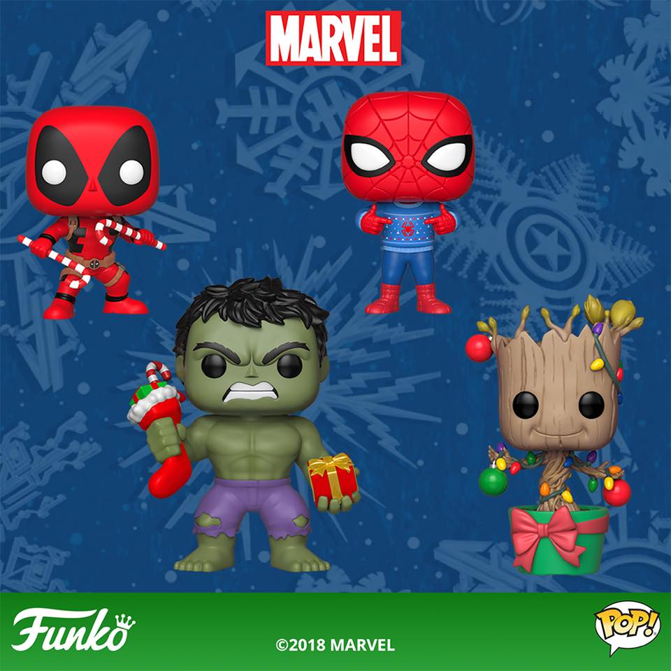 Funko Marvel Holiday Pop Vinyls Amp Pint Size Heroes Figures