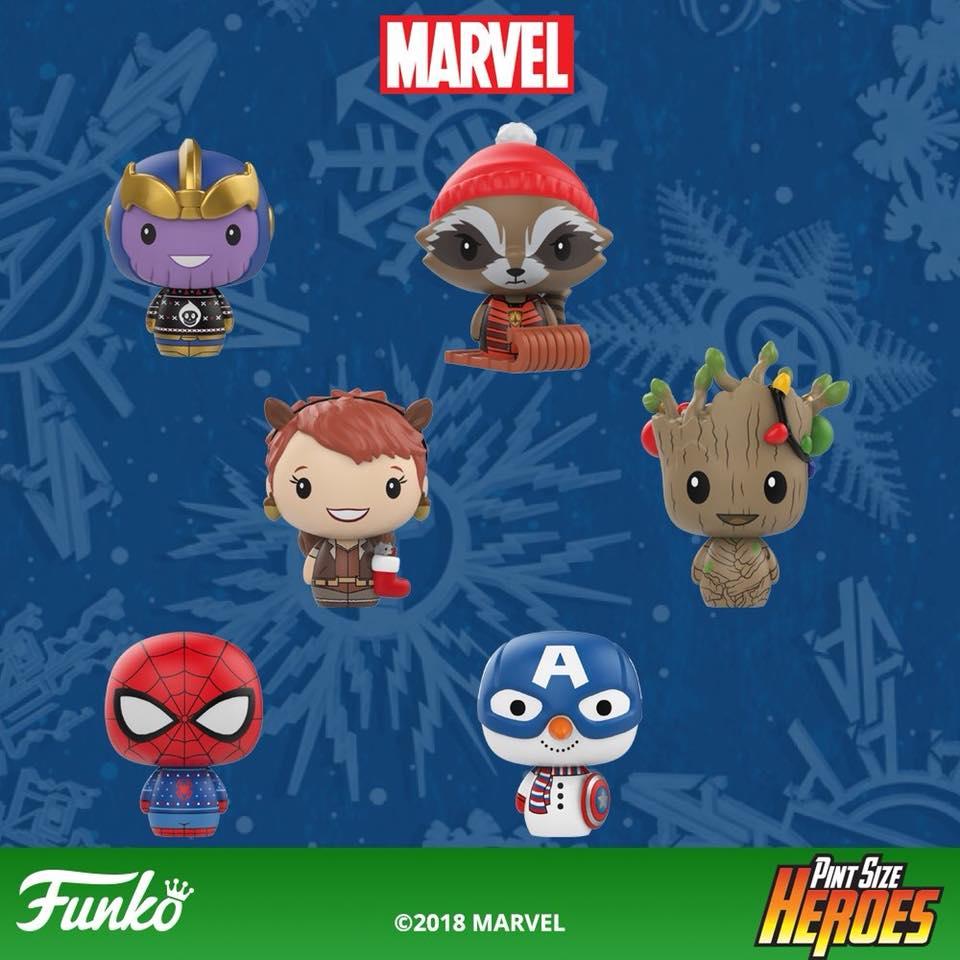 Christmas Groot Pop 2020 Funko Marvel Holiday POP Vinyls & Pint Size Heroes Figures