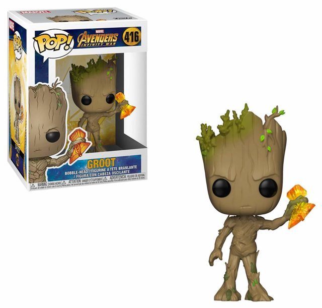 Funko POP Vinyls Infinity War Wave 2 Groot with Stormbringer