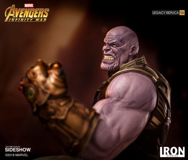 Growling Head on Iron Studios Legacy Replicas Thanos Figure