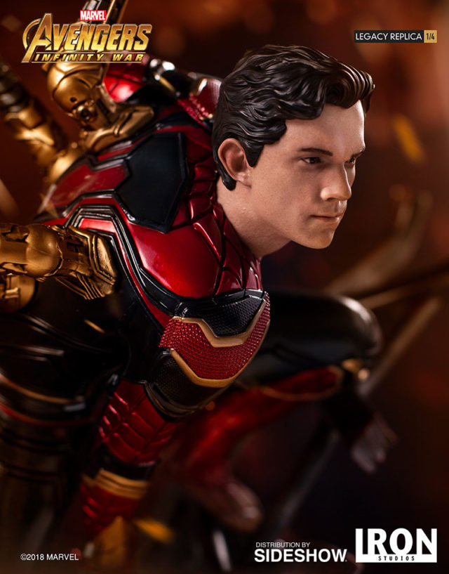 Iron Spider Iron Studios Quarter Scale Statue Tom Holland Unmasked Head