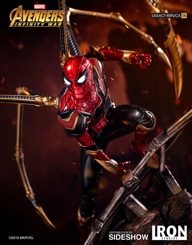 Iron Studios 1 4 Iron Spider Spider-Man Statue