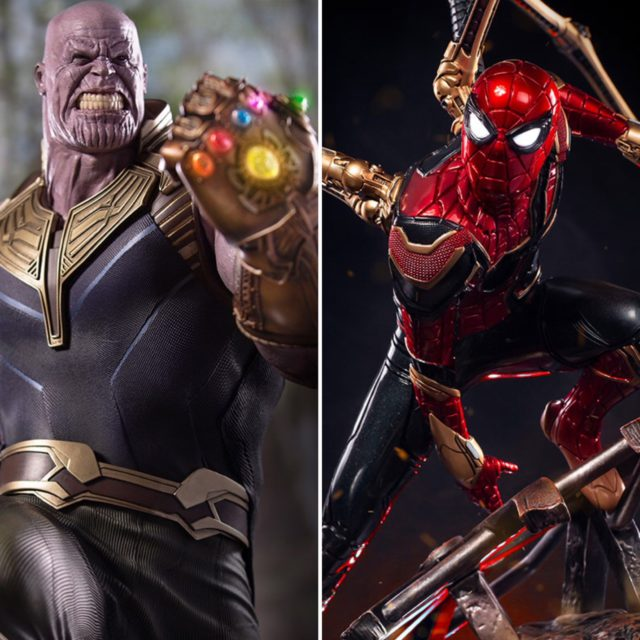 Legacy Replicas Iron Spider and Thanos Quarter Scale Statues