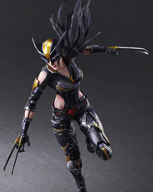 Play Arts Kai Wolverine X-23 Action Figure With Claws out