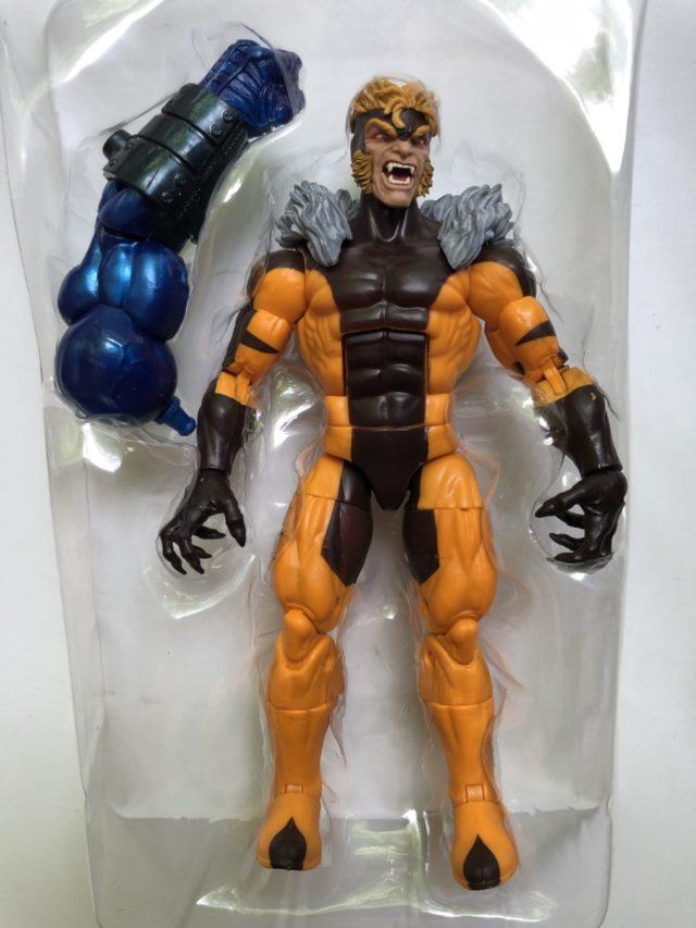 Sabertooth Marvel Legends 2018 Figure with Apocalypse BAF Left Arm