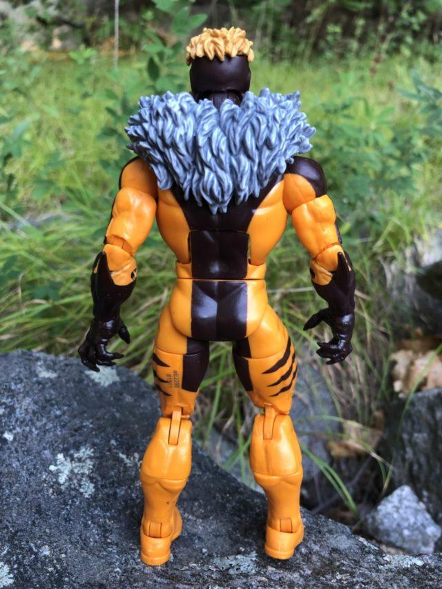 Back of Sabertooth Marvel Legends Apocalypse Series Figure Fur